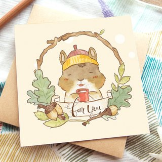 OURS Greeting Card - Chipmunk - by Koopa