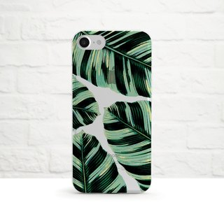 Tropical Foliage, Clear Soft Case, iPhone X, iphone 8, iPhone 7, iPhone 7 plus, iPhone 6, iPhone SE, Samsung
