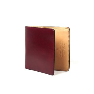 Square bifold wallet /Oxide RED