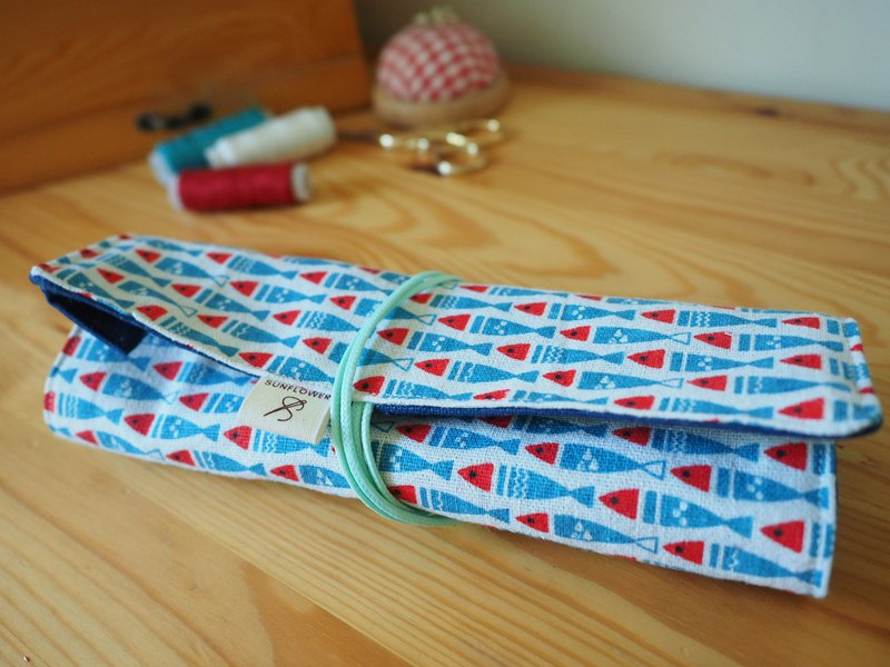 Handmade pencil roll case, tool roll, wrap case