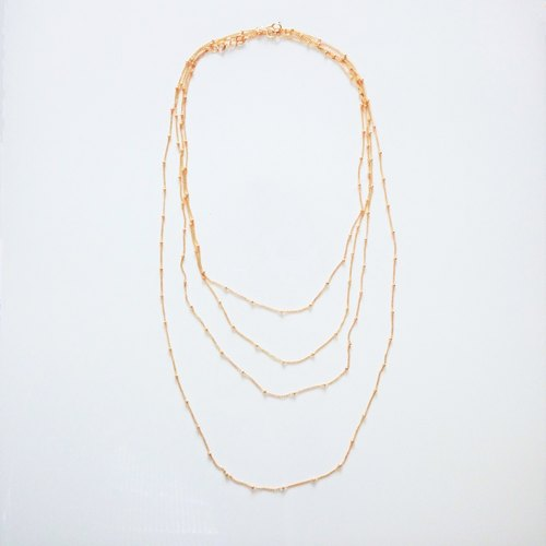 14kgf * gold station necklace 40cm 1piece