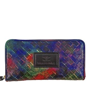 ACROMO Intrecciato Zip Around Wallet
