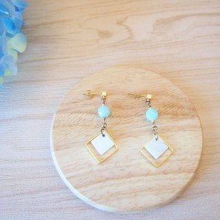 Anniewhere | Geometric | Tianhe Square Fangbei earrings (can be changed without ear hole clip models)