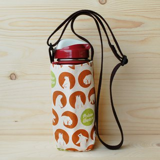 Close-up polar bear slanting back adjustable kettle bag