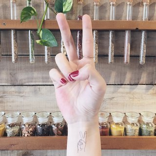 My Dear Tattoo / Temporary Tattoo / Hand gesture / 2 pcs