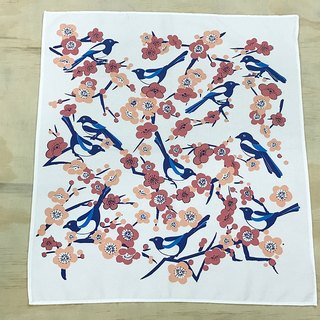 Hand towel: Magpie(white)