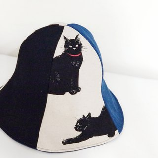 Maverick Village handmade double-sided cap men and women visor black cat wild [Mr. Cat] MH-50 limited edition