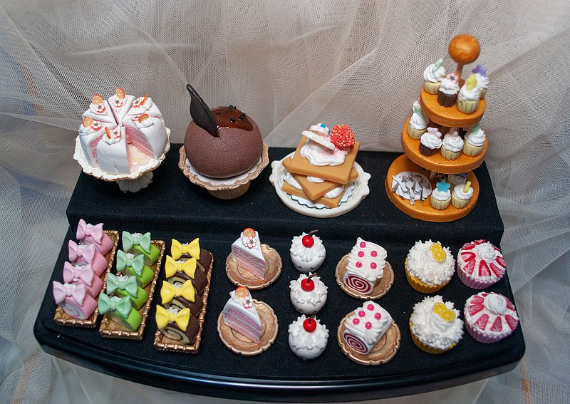 [Daily life] Handmade pocket luxury afternoon tea cake set-with display box