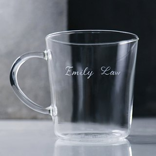 (One pair price) 350cc [have] you only complete half hearts Pyrex glass mug carved lettering Valentine's Day gift mug custom wedding anniversary