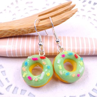 *Playful Design* Pistachio Donuts Drop Earrings