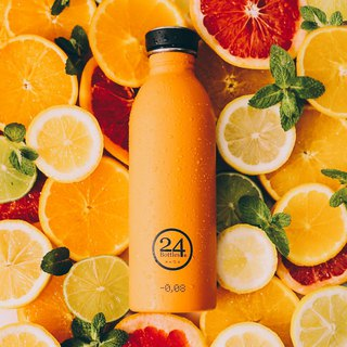*24Bottles - Urban Bottle Total Orange - 100g lightweight stainless steel bottle