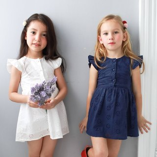 Cotton floral embroidered dress (infant/toddler/girl)