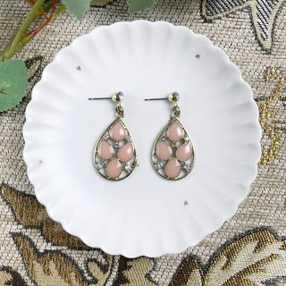 Pink Metal Drops Antique Earrings BLA055