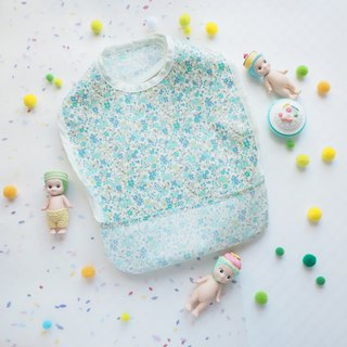 Baby Eating Apron - Blue Flower
