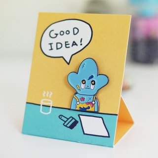 Good Idea Starfish Badge_ blue