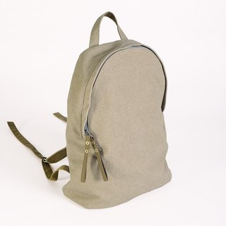 New color listing - washable canvas lightweight backpack / khaki