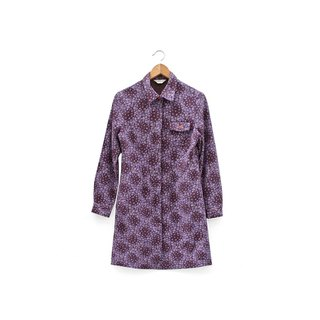 │Slowly│ purple floral -... Vintage dress coat │vintage Art Institute of wind cute retro elegant.