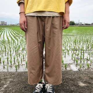 Handmade clothes, lightweight, cool, pure cotton, wide tube, nine points wide pants