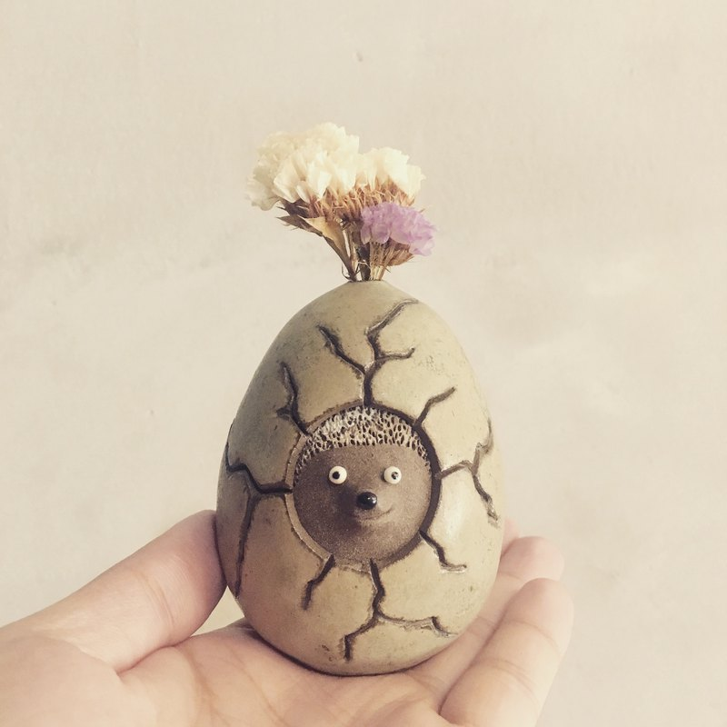 To burst out the cute hedgehog egg shaped flower