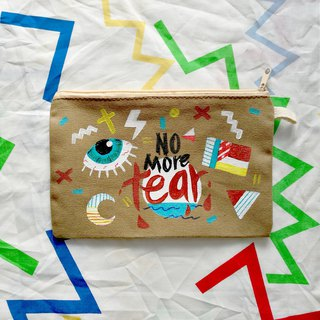 Hand-painted Clutch Bag : NO MORE TEAR