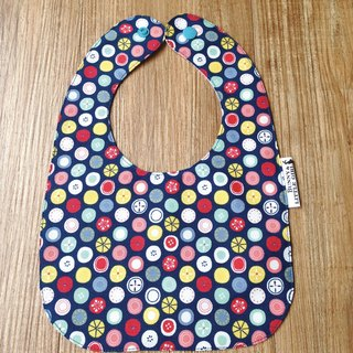 Two-sided bib - Colorful candy