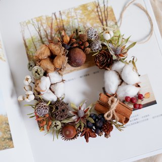 Unfinished | Autumn harvest dried flowers wreath shooting props wall decoration gifts gifts wedding arrangements office small objects hydrangea home exchange gifts Christmas Spot