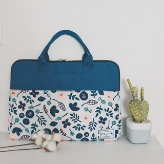 Blooming Flowers - Colorblock Cloth Laptop Case (13-14吋) / 815a.m
