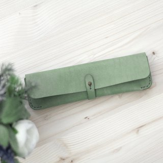 Buckle pen bag -- mint green