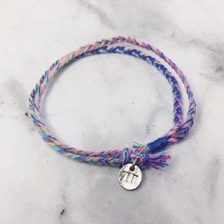 The strongest spell! Lucky bracelet # 9 plum purple