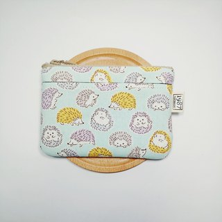 [Hedgehog Baby-Green] Coin Purse Clutch Bag with Zipper Bag