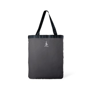 Toflip - Red Washed Canvas × Dark Grey Polyester - Double Sided Totebag
