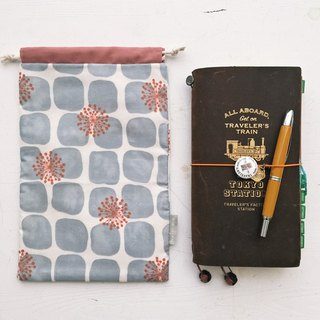 Dandelion PDA / Notepad / small bundle mouth storage bag - gray (tn / hobo / MD / diary)