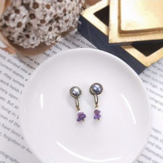 earring. Classic Black Pearl* Shu Lai Lai Clip Earrings