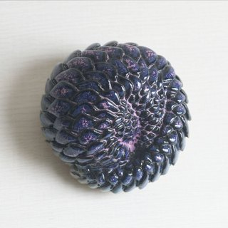 Pangolin - powdered cobalt blue glaze