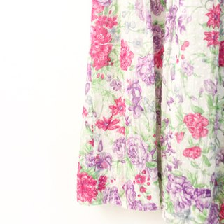 Vintage Japanese Sweet Romantic Pink Flowers Floral Cotton Sleeveless Vintage Dress Vintage Dress