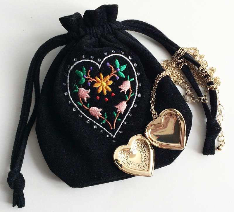 Floral Heart Locket