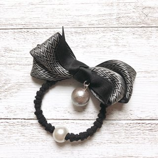 Fashion bow hair bundle / ochre black