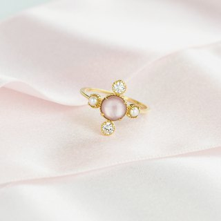 CROSS 9K Gold Pearl Mother-of-pearl Ring