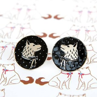 Polka Dot Husky Stud Earrings, Husky Earrings