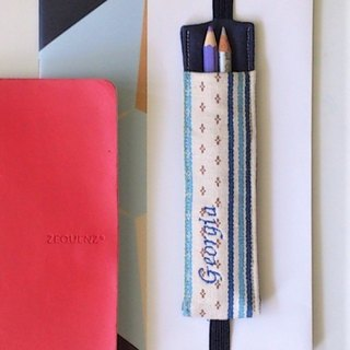 Journal Pen Holder (Blue Country Floral)