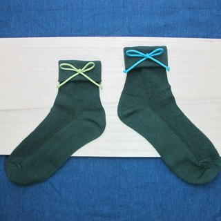Folding Socks / Wenqing section tied rope in the stockings / temperament dark green / order orders