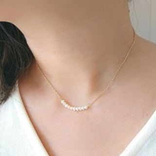 14 kgf freshwater pearl delicate necklace