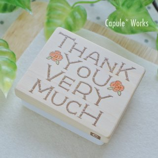 バラのTHANK YOU VERY MUCHはんこ
