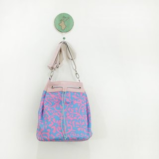 Mercury Bartender Small Belt Bag Sheepskin + Cotton Blue + Pink Can Ramp or Side Back Limit 1