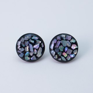 【 !!NEW!! 】pearl mosaic earrings (black)
