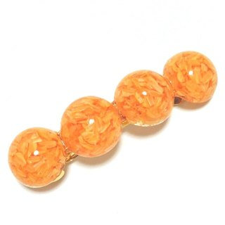 Dry Flower plenty ♪ Valletta (Orange) barrette · orange