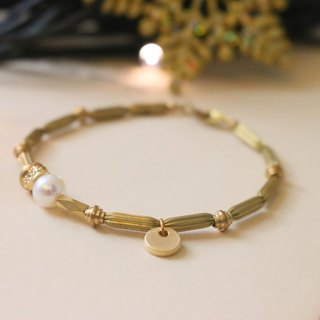 <☞ HAND IN HAND ☜> Natural Pearl - Harvest Bracelet (0930)