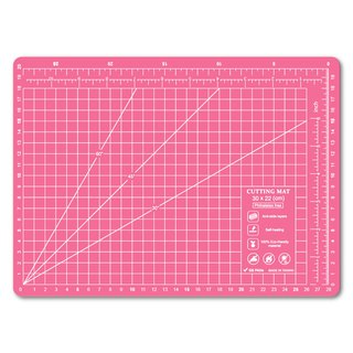 Lightweight odorless cutting pad (A4) Peach pink translucent / art professional use