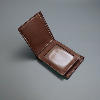 6-Card Sparrow Short Wallet。Leather Stitching Pack。BSP072