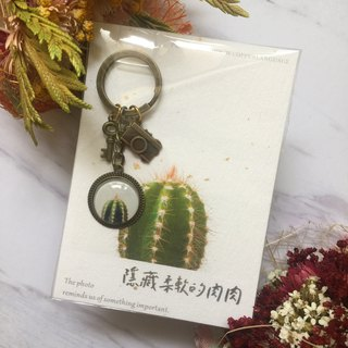 Small things inlaid keychain - hidden